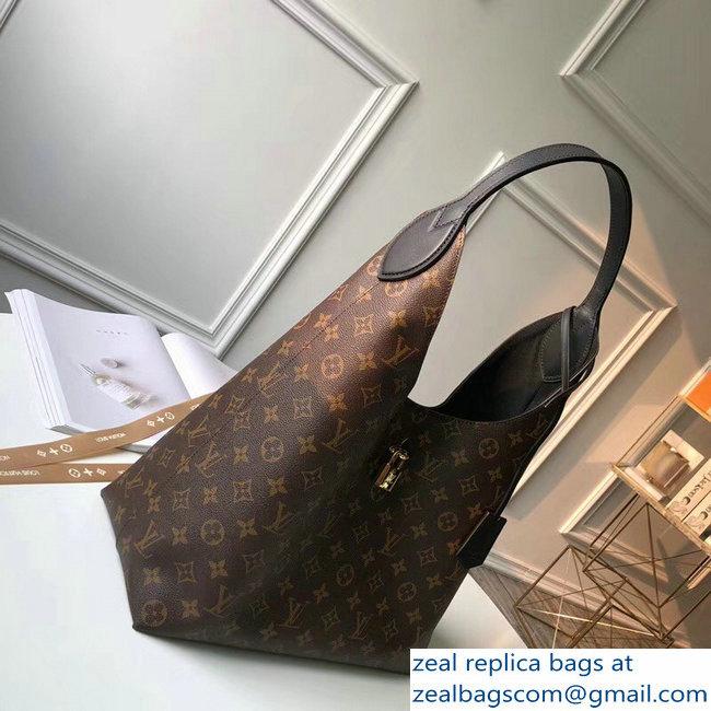 Louis Vuitton Monogram Flower Padlock Hobo Bag M43545 Noir 2018 ... 57f8107e14afb