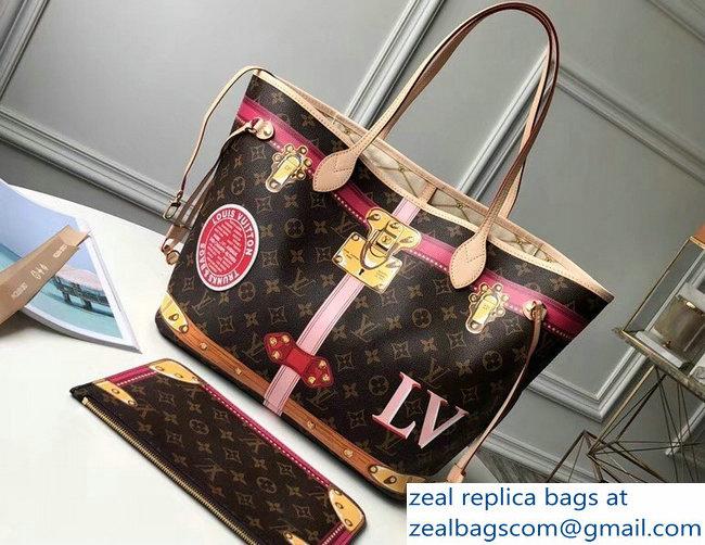 0d62915f4af Louis Vuitton Summer Trunks Monogram Canvas Neverfull MM Bag M41390 2018