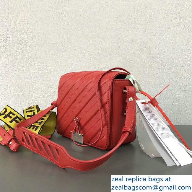 Off-White Diagonal Padded Binder Clip Shoulder Bag Red 2018   www ... 18d709950bd8e