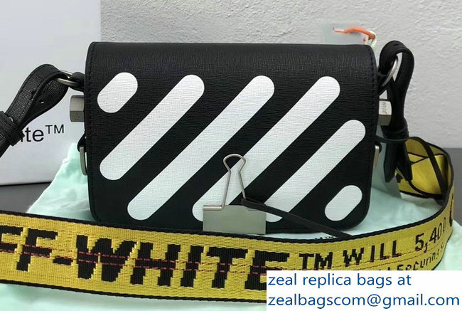 Off-White Mini Diagonal Square Binder Clip Shoulder Bag Black 2018