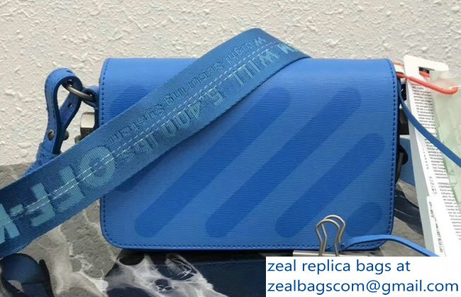 Off-White Mini Diagonal Square Binder Clip Shoulder Bag Blue 2018