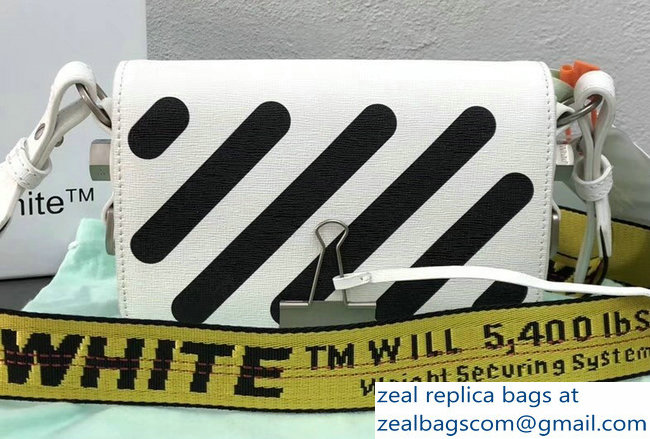 Off-White Mini Diagonal Square Binder Clip Shoulder Bag White 2018