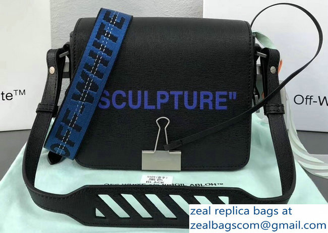 Off-White Sculptur Binder Clip Shoulder Bag Black/Blue 2018