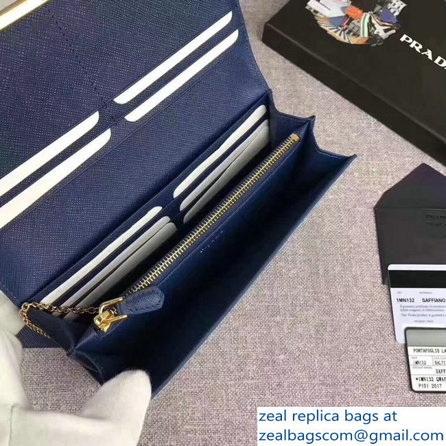 004ac65ad94a Prada Cahier Leather Flap Wallet 1MH132 Dark Blue 2018   www.zealbag.ru