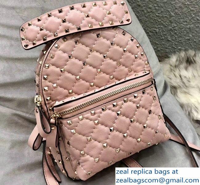 fe1e257d9d Valentino Rockstud Spike Mini Backpack Bag Light Pink 2018   www ...