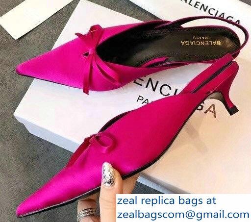 Balenciaga 2018 Satin Pointed-Toe Mules big sale online pictures cheap online for sale very cheap d4XWKsL