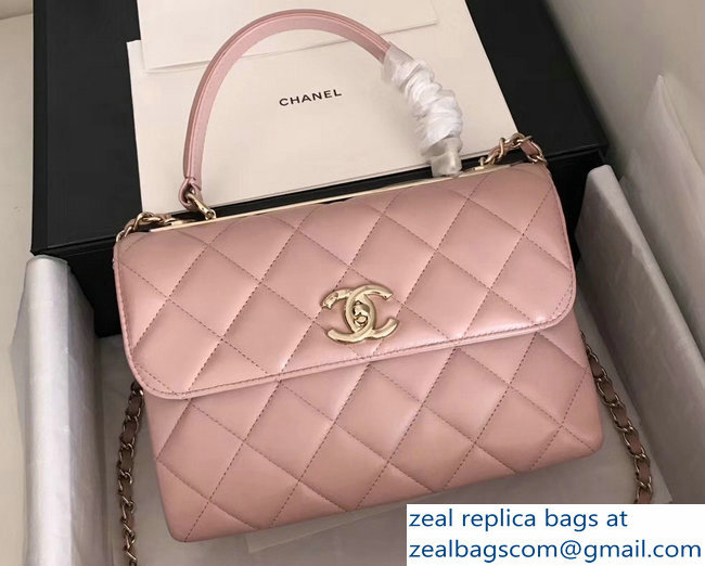 Chanel Trendy CC Small Flap Top Handle Bag A92236 Light Pink/Gold