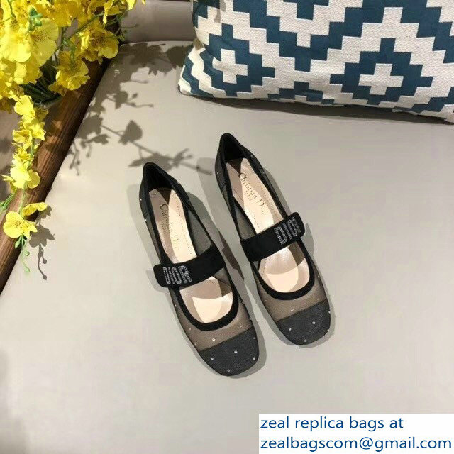 206784e999f Dior Heel 3cm Baby-D Ballet Pumps Silver Dotted Swiss 2018   www ...