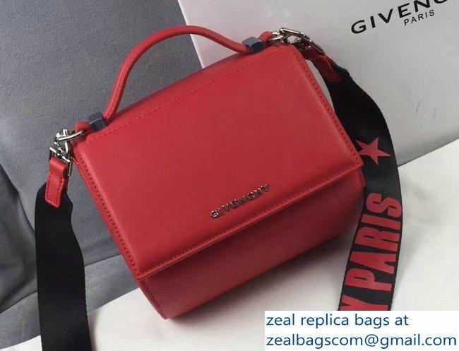 Givenchy Pandora Box Mini Bag Logo Strap Red 2018   www.zealbag.ru e76744de9ab97