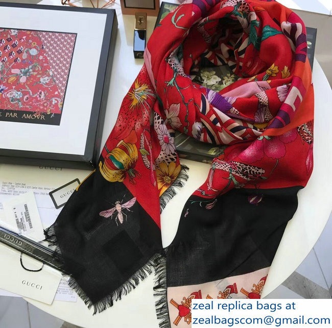 Gucci Cashmere and Silk Scarf 03 2018