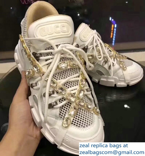 Gucci Chunky SEGA Sneakers 02 with Removable Criss-crossed Crystals FW 2018  Show b4d976193af6