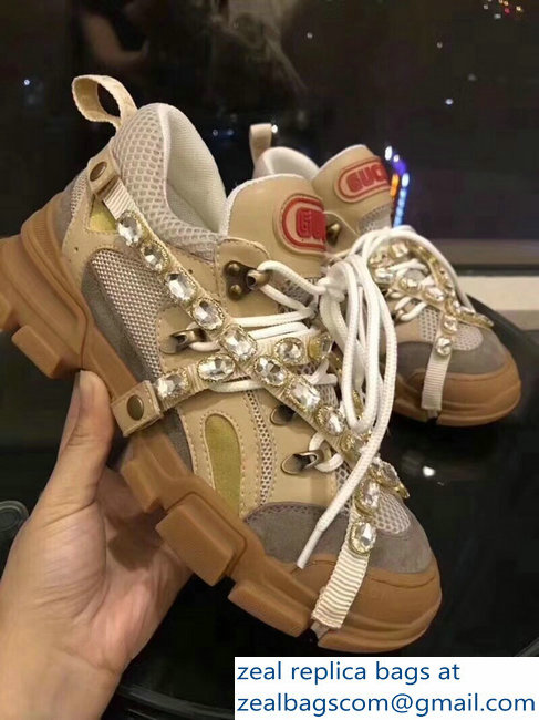 d998d7c508eba Gucci Chunky SEGA Sneakers 06 with Removable Criss-crossed Crystals FW 2018  Show