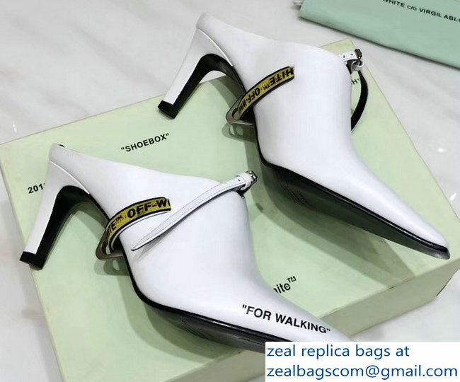 Off-White Heel 7cm For Walking Mules White 2018