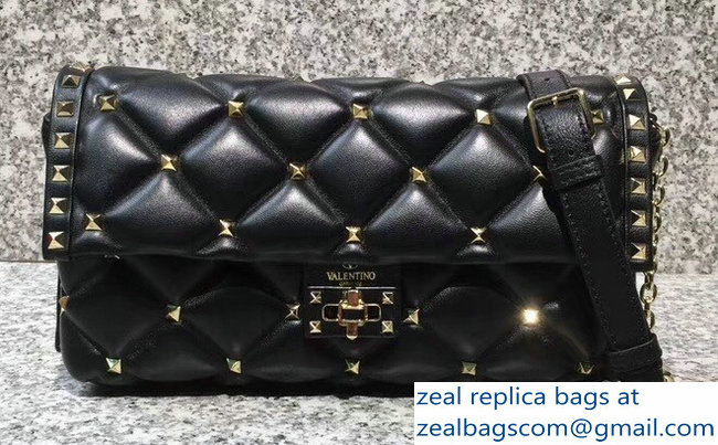 Valentino Candystud Shoulder Cross-Body Bag Black 2018