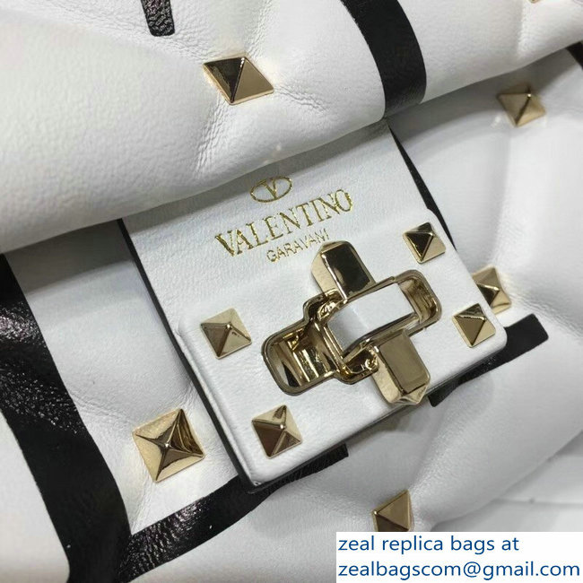97e5cbb8db42 Valentino Candystud Shoulder Cross-Body Bag Logo Print White 2018 ...