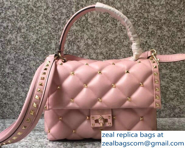Valentino Candystud Single Handle Top Handle Bag Pink 2018