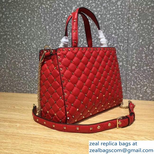 Valentino Rockstud Spike Shopping Tote Bag Red Runway 2018   www ... 37fc41db18d