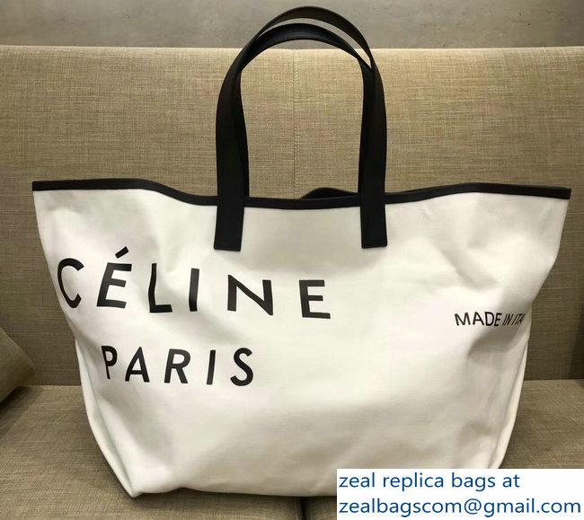 fc0b1d3791 Celine Black Logo Made In Medium Tote Bag Bag in Textile 2018   www ...