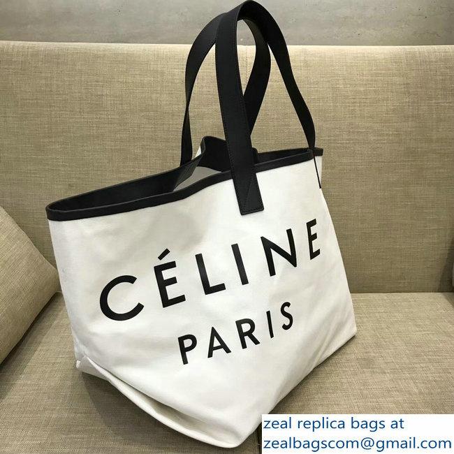4ebdbdc11b Celine Black Logo Made In Medium Tote Bag Bag in Textile 2018 larger image
