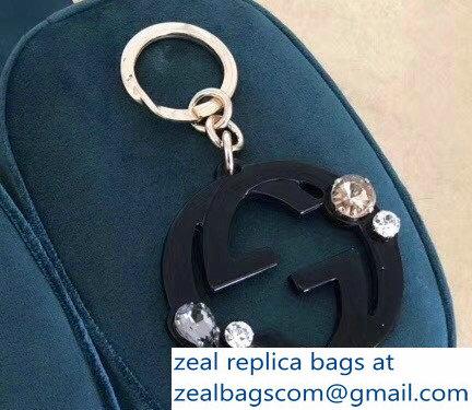 d6d35fb5a3b93 Gucci Black Double G Key Ring Bag Charm 2018   www.zealbag.ru