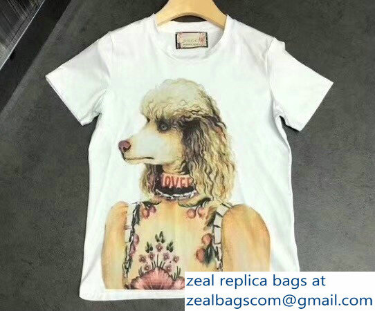 Gucci Dog Loved White T-Shirt 2018
