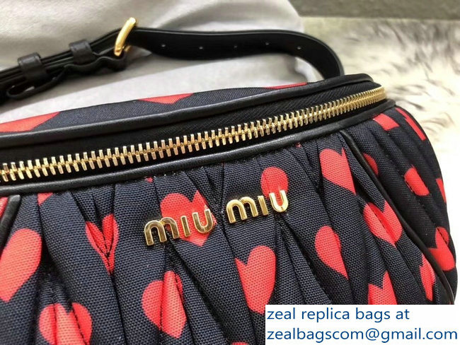 Miu Miu Matelasse Faille Belt Bag 5BL009 Black 2018