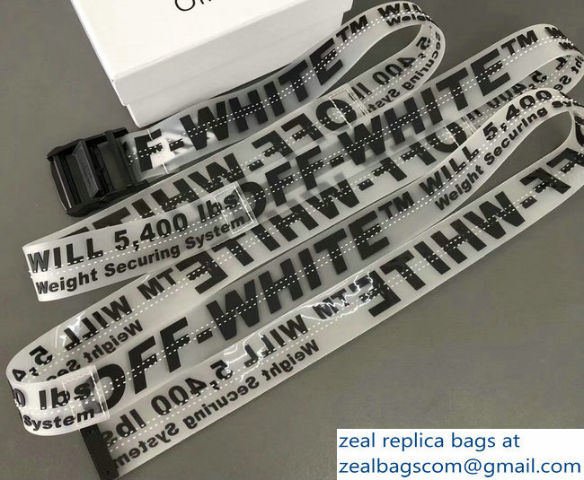 Off-White Industrial Belt Black/White 2018
