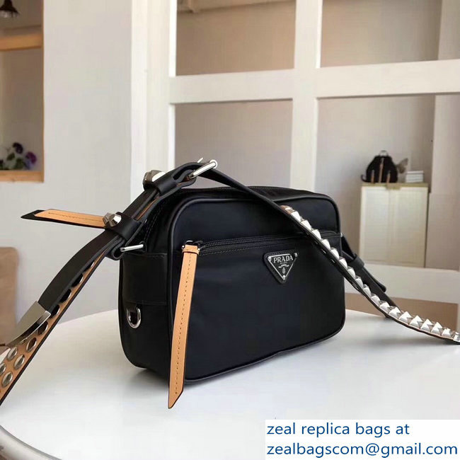 c45274836054 Prada Black Nylon shoulder bag 1bc167 yellow   www.zealbag.ru