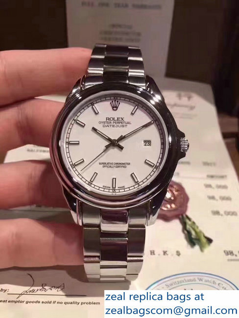 Rolex Datejust Stainless Steel White Surface Watch