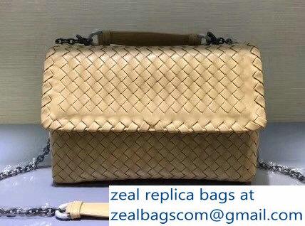 ebf8698adbe7 Bottega Veneta Intrecciato Nappa Small Olimpia Shoulder Bag Apricot ...