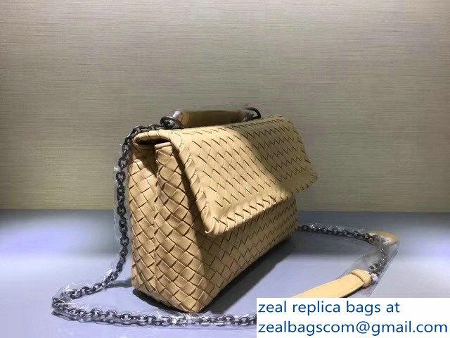 2c2c1edf2295 Bottega Veneta Intrecciato Nappa Small Olimpia Shoulder Bag Apricot larger  image