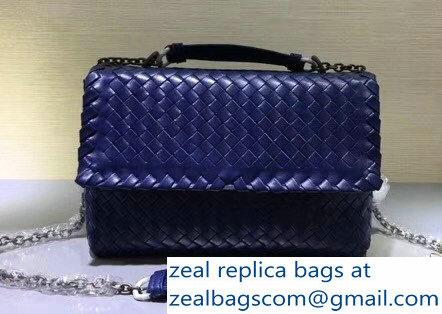 e6c8e6c574bc Bottega Veneta Intrecciato Nappa Small Olimpia Shoulder Bag Blue ...