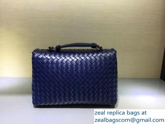 b0adbfab7d44 Bottega Veneta Intrecciato Nappa Small Olimpia Shoulder Bag Blue larger  image