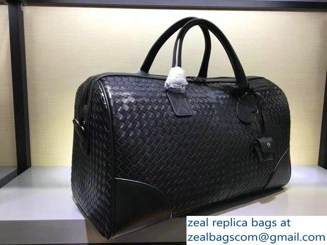 ee0a9a8a087b Bottega Veneta Medium Duffel Bag In Nero Intrecciato VN   www.zealbag.ru