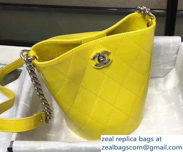 99c228f2feaa Chanel Crumpled Calfskin Small Bucket Bag A57636 Yellow 2018   www ...