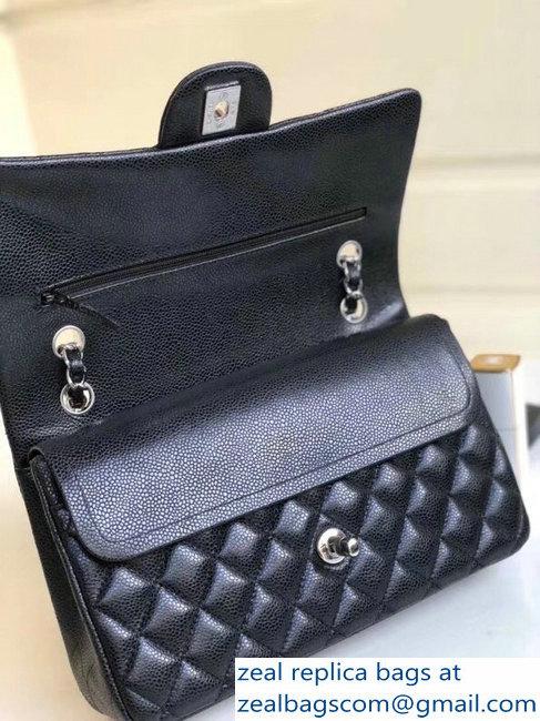 f8c565b78ff5 Chanel Pearl Caviar Leather Classic Flap Medium Bag Black 2018   www ...