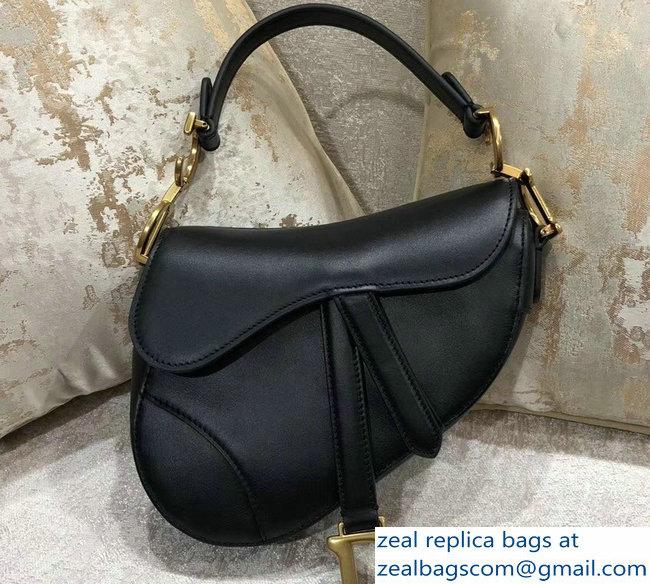 Dior Mini Saddle Bag In Calfskin Black 2018   www.zealbag.ru 534c83af1a416