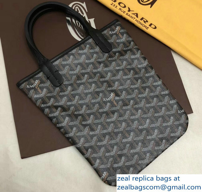 Goyard Limited Edition Poitiers Tote Bag Black