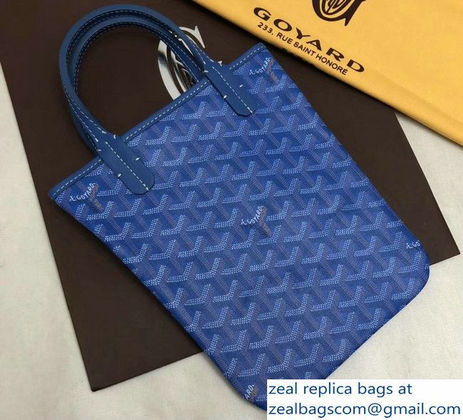 Goyard Limited Edition Poitiers Tote Bag Blue