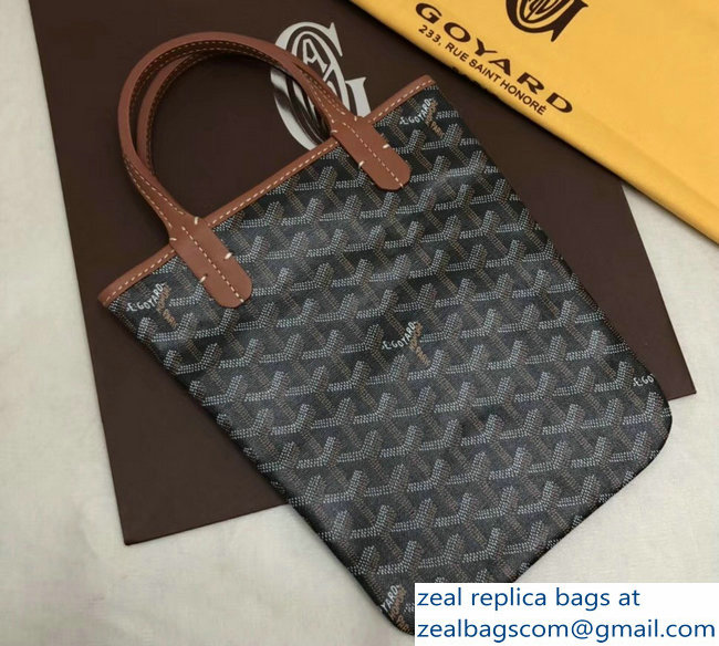 Goyard Limited Edition Poitiers Tote Bag Brown