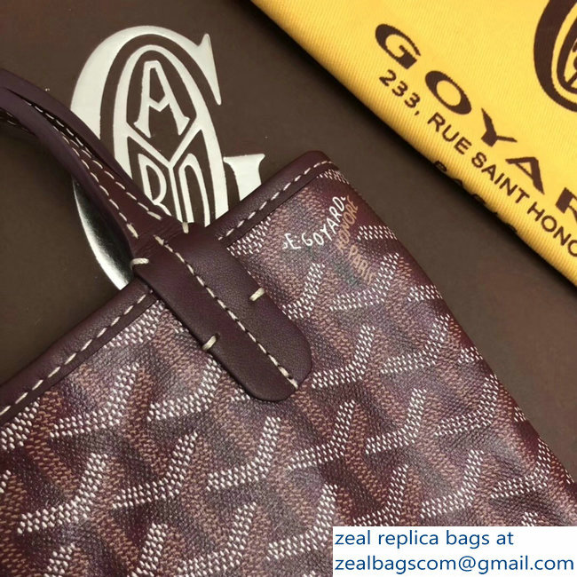 Goyard Limited Edition Poitiers Tote Bag Burgundy