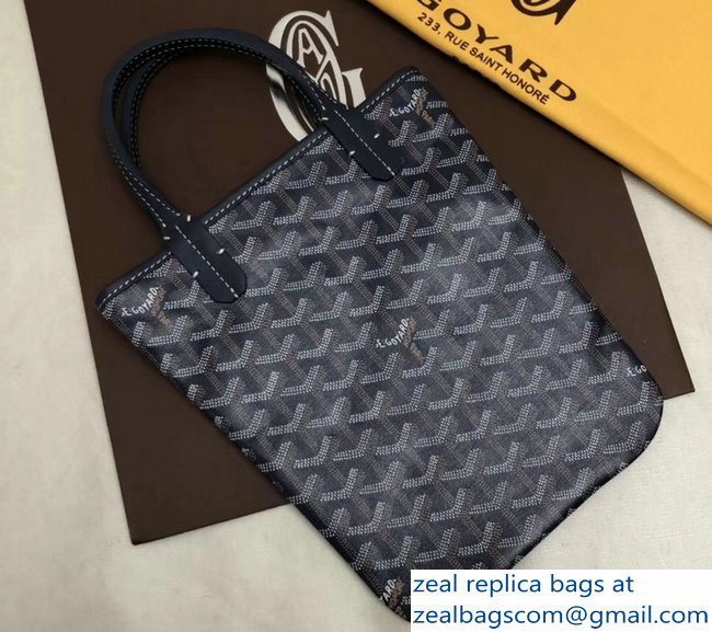 Goyard Limited Edition Poitiers Tote Bag Dark Blue