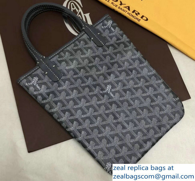 Goyard Limited Edition Poitiers Tote Bag Gray