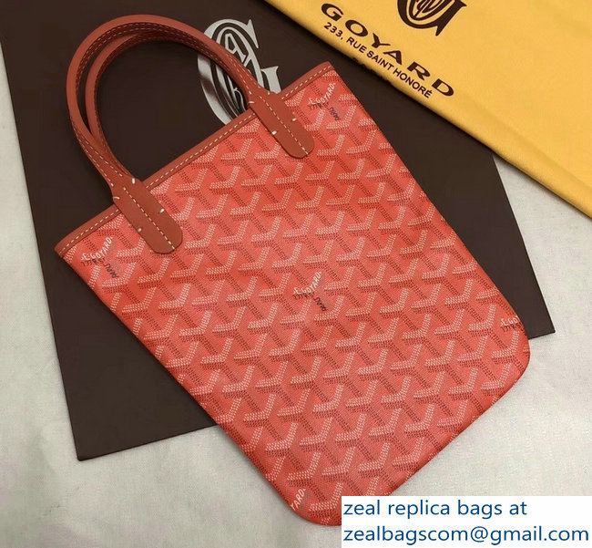Goyard Limited Edition Poitiers Tote Bag Orange