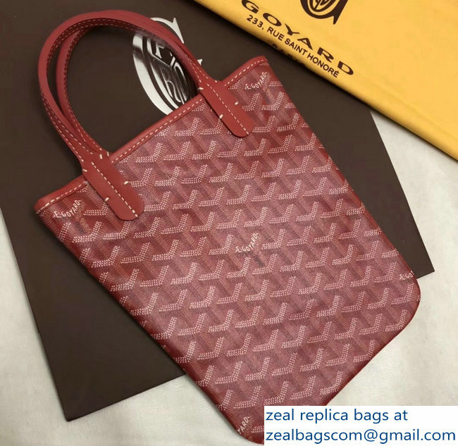 Goyard Limited Edition Poitiers Tote Bag Red