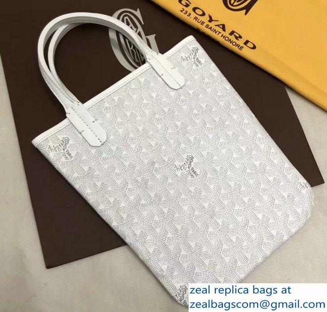 Goyard Limited Edition Poitiers Tote Bag White