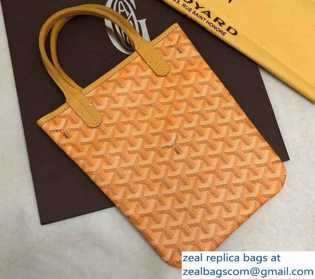 Goyard Limited Edition Poitiers Tote Bag Yellow