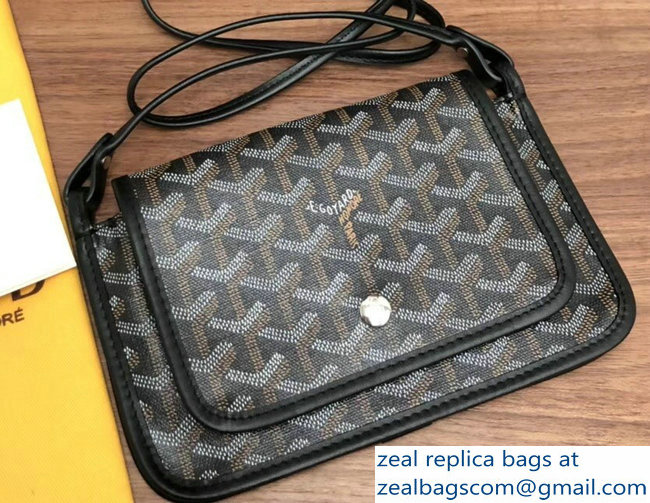 Goyard Plumet Clutch Bag with strap Black