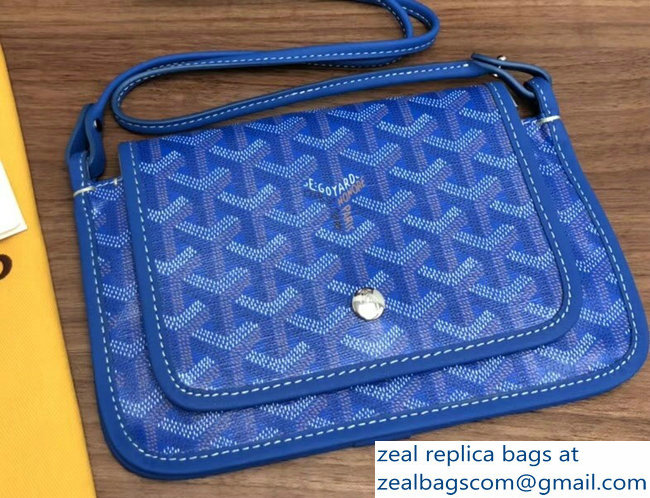 Goyard Plumet Clutch Bag with strap Blue