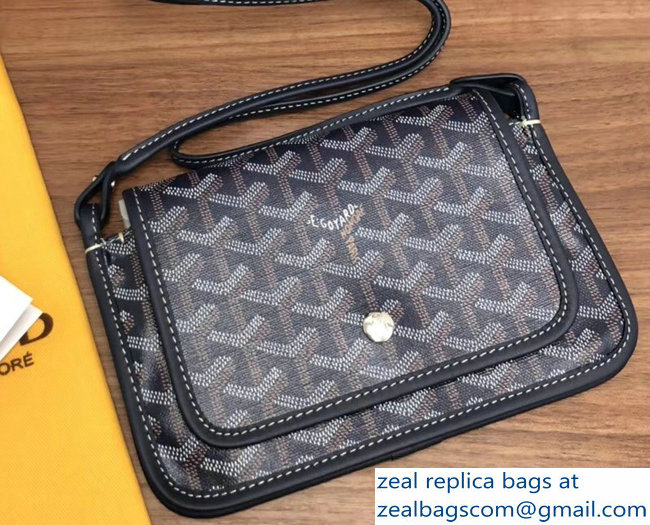 Goyard Plumet Clutch Bag with strap Dark Blue